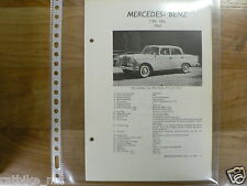 ME16-MERCEDES-BENZ TYPE 190C 1963 -TECHNICAL INFO