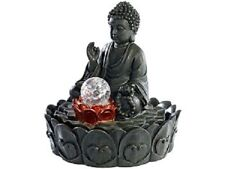 "Illuminated Room Fountain "" lotus-buddha "" with Glass Sphere"