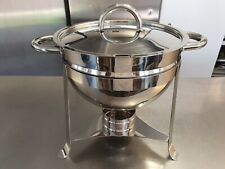 More details for stainless steel soup warmer. uses chaffing dish fuel tins. super condition.