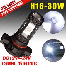 1x 12V-24V White PS24WFF H16 30W High Power Fog Driving DRL Light 5202 Aluminum