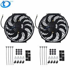 Set 2 12 inch Universal 12V Electric Radiator Cooling Slim Fans Push Pull Mount
