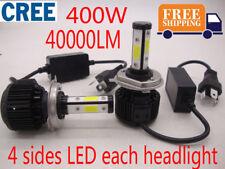 H4 H1 H7 400W 40000LM CREE 4 sides LED Headlight Lamp Bulbs Kit High Power 6000K