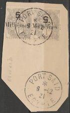COLONIES - PORT SAID - N° 61 ET 61B oblitéré se tenant sur fragment