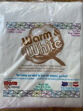 "The Warm Company Warm & White Cotton Batting 72"" X 90"" New"