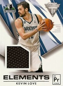 Kevin Love 2013-14 Panini Titanium Elements Jerseys #66 All-Star Jersey Wolves !