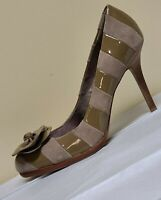 Coach tan/beige high heels with bow, size 8 B