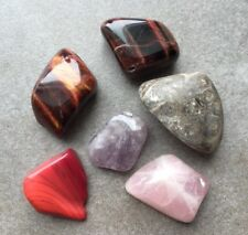 Mineral Lot Crystal Rose Quartz Tiger's Eye Amethyst Red Jasper Turritella Agate