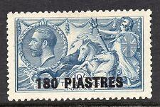 KGV sg 50    10/- indigo  seahorse British Levant with 180  piastres overprint.