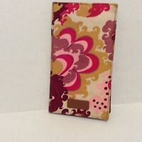 J.Crew Wallet Cream Pink Yellow Paisley Inside Out Magic Card Holder