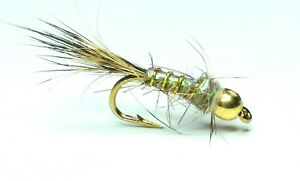 G.R.H.E GOLDHEAD FLASHBACK TROUT FISHING FLIES - SIZE 10