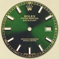 REFINED MENS 2-TONE DATEJUST GREEN DIAL WITH LUMINOUS MARKER RT FOR ROLEX-36