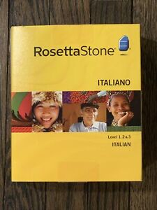 Rosetta Stone Italian Level 1, 2, & 3 Vers 3 CD DVD Headphones Keyboard Stickers