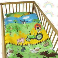 baby BEDDING set crib cot Farm Cow DUVET bumper MOSES BASKET sheet GIRL BOY