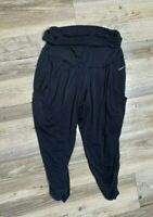 NIKE DRI FIT Black Loose Fit yoga Athletic Cropped Pants Women's size X-Small XS