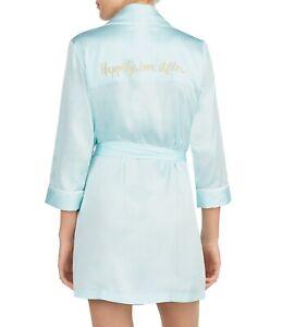 Nwt Kade Spade Bridal Happily Ever After Medium Tiffany Blue Robe