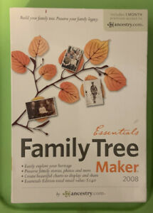 Ancestry.Com Essentials Family Tree Maker 2008 Windows XP S2/Vista
