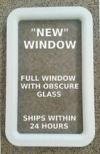 """NEW"" White RV Camper Cargo Toy Trailer Motorhome Entry / Entrance Door Window"