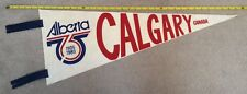 "Vintage Calgary - Alberta 75th Anniversary Commemorative 28"" Pennant"