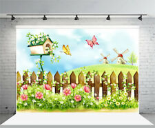 7X5Ft Spring Colorful Garden Kids Photography Background Photo Studio Backdrop