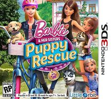 Barbie and Her Sisters: Puppy Rescue [Nintendo 3DS, NTSC, Cute Mattel] NEW