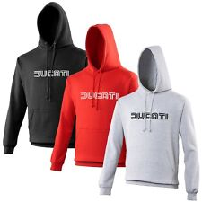 Ducati Hoodie Old Text Biker Motorcycle Rider VARIOUS SIZES & COLOURS