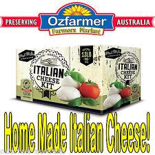 Home Cheese Making Beginners Italian Cheeses Kit Homemade Mozarella Ricotta