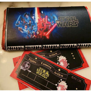 Star Wars Chocolate Bar With Wrap And 2 Movie Style Tickets