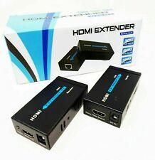 HDMI EXTENDER ETHERNET CAVO DI RETE LAN OVER CAT5E CAT6 60 METRI HDMI 3D 1080P