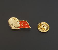 Mustafa Kemal Atatürk Türk Bayragi Rozeti Rozet Anstecknadel Pin Gold Türkei NEU