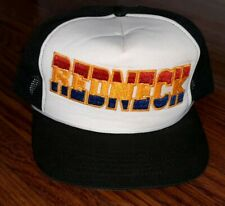 REDNECK Vintage Trucker Hat mesh foam snapback  retro hipsters CROWN Embroidered
