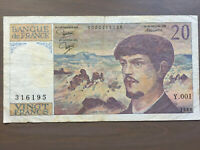 France 20 Francs Banknote 1980 Old Collectible Foreign Paper Money