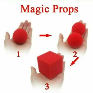 1 Block 2 Sponge Balls Props Classical Illusion New Tricks Ma Hot Red Best