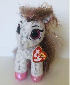 TY Beanie Boos Cinnamon Pony Plush Bday June 8th With Tag