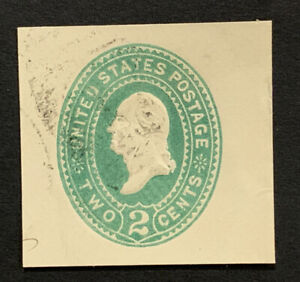 Travelstamps: US Stamps Scott #U318 Used 2 Cent Denomination Cut Square