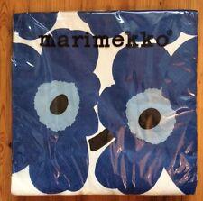Marimekko paper napkins, 40x40cm, HUGE, Blue Unikko, 20 cts decoupaging Finland
