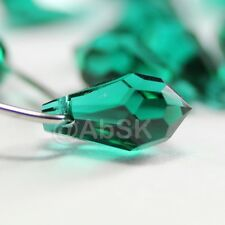 8 pcs Swarovski Element 6000 Top Drilled 11mm Teardrop Pendant Crystal Emerald