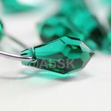 8 pcs Swarovski Element 6000 Top Drilled 11mm Teardrop Pendant Crystal Emerald