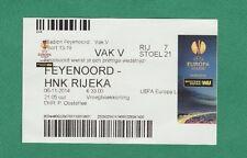 Orig.Ticket  Europa League  2014/15   FEYENOORD ROTTERDAM - HNK RIJEKA  //  A  !