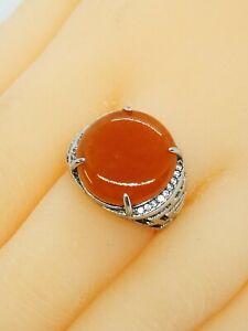 Red Burmese Jadeite Jade Ring/糯冰缅甸红翡翠戒指