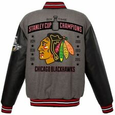 Chicago Blackhawks 6 Times Stanley Cup Champions Wool Reversible Jacket JHDesign