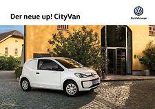 Volkswagen Vw Up! CityVan 11 / 2016 catalogue brochure