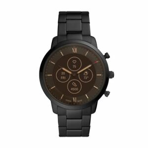 Mens Hybrid Smartwatch FOSSIL NEUTRA FTW7027 Stainless Steel Black