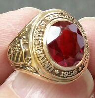 1956 DETROIT TIGERS High School University 10K Gold Class Ring Size 4.5 10 Gr