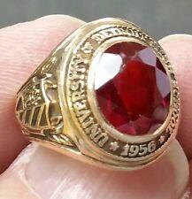 1956 DETROIT TIGERS High School University 10K Gold Class Ring Size 4.5 10 Gr