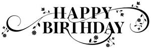 Birthday - Text - Happy Birthday #9 Unmounted Clear Stamp Approx 61x20mm