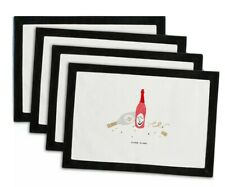 Kate Spade Pretty Pantry Clink Clink Placemats - Set of 4 - New