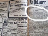 Cham 1924 Zeitung kompletter Jahrgang Chamer Tagblatt Kurier alt Oberpfalz bayer
