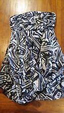 Dotti Black & White Balloon Hem Strapless Short Dress Sz8 Post E2