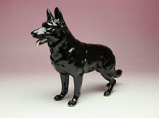 Black German Shepherd Porcelain Figurine 10in Long Dog Statue New Japan