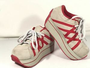Volatile Platform Leather Sneakers Womens Size 6